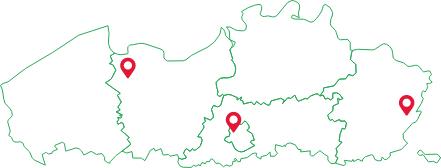 Locaties in Vlaanderen